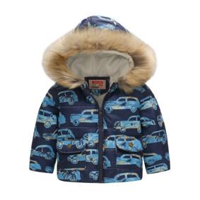 Демисезонная куртка для мальчика Голубая машина (код товара: 51145): купить в Berni