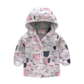 Куртка-ветровка для девочки Кошачья мордочка (код товара: 51118): купить в Berni