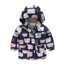 Куртка-ветровка для девочки Мяу (код товара: 51117)