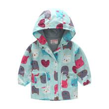 Куртка-ветровка для девочки Разноцветные зверушки (код товара: 51115)