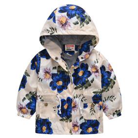Куртка-ветровка для девочки Синие цветы шиповника (код товара: 51123): купить в Berni