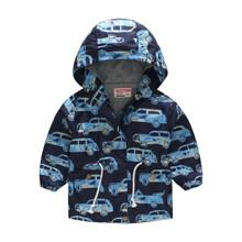 Куртка-ветровка для мальчика Машина в пальмах (код товара: 51121)