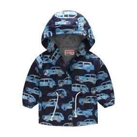 Куртка-ветровка для мальчика Машина в пальмах (код товара: 51121): купить в Berni