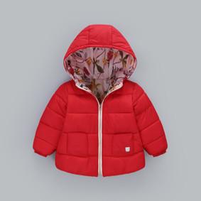 Демисезонная куртка для девочки Райский сад, красный (код товара: 51235): купить в Berni