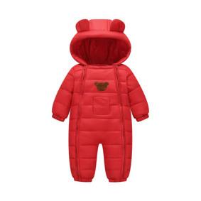 Комбинезон демисезонный детский Счастливый мишка, красный (код товара: 51243): купить в Berni