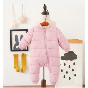 Комбинезон утепленный для девочки Медвеженок, розовый (код товара: 51240): купить в Berni