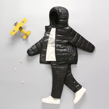 Комплект демисезонный (куртка + штаны) детский, черный (код товара: 51273)