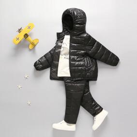 Комплект демисезонный (куртка + штаны) детский, черный оптом (код товара: 51273): купить в Berni
