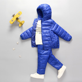 Комплект демисезонный (куртка + штаны) детский, синий оптом (код товара: 51276): купить в Berni