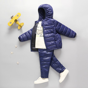 Комплект демисезонный (куртка + штаны) детский, темно-синий оптом (код товара: 51274): купить в Berni