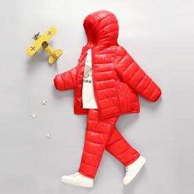 Комплект демисезонный (куртка+штаны) детский, красный оптом (код товара: 51275): купить в Berni