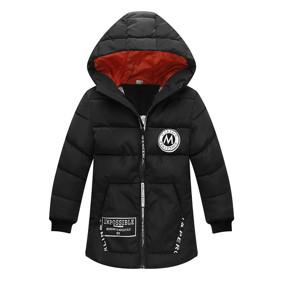 Куртка удлиненная демисезонная детская Лондон, черный (код товара: 51277): купить в Berni