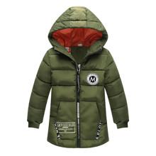 Куртка удлиненная демисезонная детская Лондон, темно-зеленый (код товара: 51279)