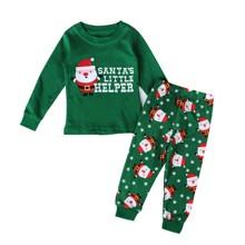 Пижама Санта-Клаус, зеленый (код товара: 51225)