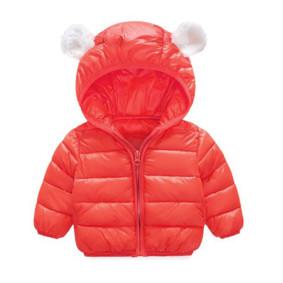 Куртка дитяча Вушка, червоний (код товару: 51303): купити в Berni