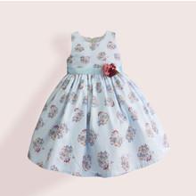 Платье для девочки Букет, голубой (код товара: 51319)