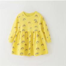 Платье для девочки Радуга, желтый (код товара: 51327)