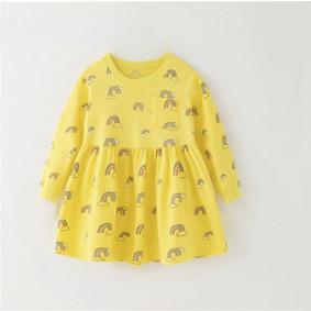 Платье для девочки Радуга, желтый (код товара: 51327): купить в Berni
