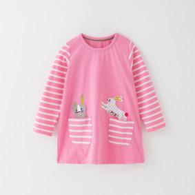 Платье для девочки Зайчики в кармашках (код товара: 51328): купить в Berni