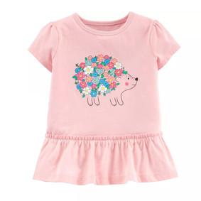 Туника для девочки Ёжик с цветами оптом (код товара: 51383): купить в Berni
