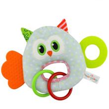 Мягкая игрушка - прорезыватель Удивлённая сова (код товара: 51402)
