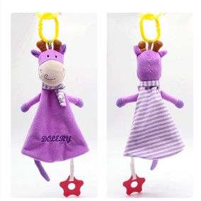 Мягкая подвеска Плюшевая Коровка, фиолетовый оптом (код товара: 51495): купить в Berni
