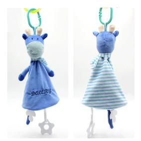 Мягкая подвеска Плюшевая Коровка, синий оптом (код товара: 51497): купить в Berni