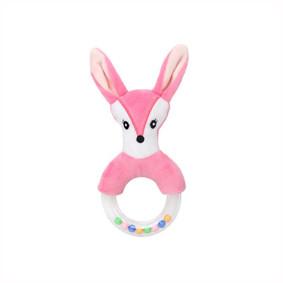 Мягкая погремушка Розовый лисёнок (код товара: 51535): купить в Berni