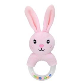 Мягкая погремушка Розовый зайка (код товара: 51537): купить в Berni