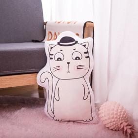Мягкая игрушка - подушка Задумчивый котик, 50см (код товара: 51654): купить в Berni