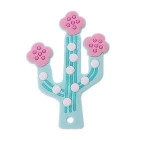 Прорезыватель Цветущий кактус, голубой оптом (код товара: 51601): купить в Berni