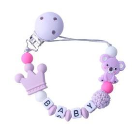 Прорезыватель-держатель для пустышки Коала, фиолетовый (код товара: 51620): купить в Berni