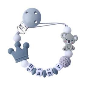 Прорезыватель-держатель для пустышки Коала, серый (код товара: 51616): купить в Berni