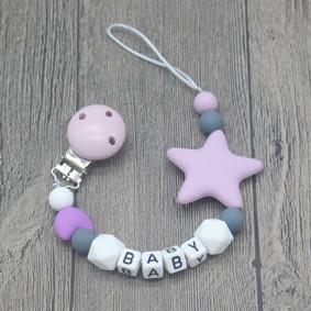 Прорезыватель-держатель для пустышки Звёздочка, фиолетовый (код товара: 51623): купить в Berni