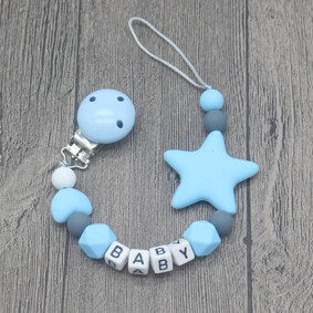 Прорезыватель-держатель для пустышки Звёздочка, голубой оптом (код товара: 51624): купить в Berni