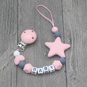 Прорезыватель-держатель для пустышки Звёздочка, розовый оптом (код товара: 51614): купить в Berni