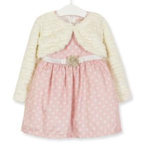 Комплект для девочки 2 в 1 Горошек, розовый (код товара: 51766): купить в Berni