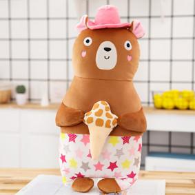 Мягкая игрушка - подушка Пляжный мишка, 50 см (код товара: 51762): купить в Berni