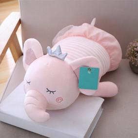 Мягкая игрушка - подушка Сонный слоник, розовый, 50см (код товара: 51752): купить в Berni