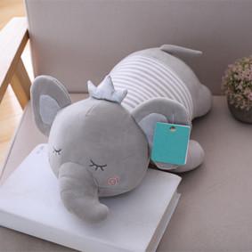 Мягкая игрушка - подушка Сонный слоник, серый, 50см (код товара: 51753): купить в Berni