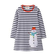 Платье для девочки Праздничный снеговик (код товара: 51712)