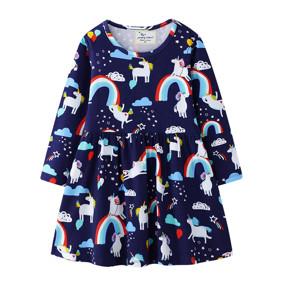 Платье для девочки Радостные Единороги (код товара: 51724): купить в Berni