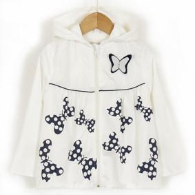 Ветровка для девочки Яркая бабочка, белый (код товара: 51705): купить в Berni