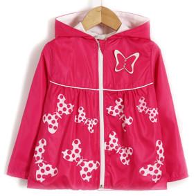 Ветровка для девочки Яркая бабочка, розовый (код товара: 51706): купить в Berni