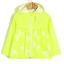 Ветровка для девочки Яркая бабочка, желтый (код товара: 51707)