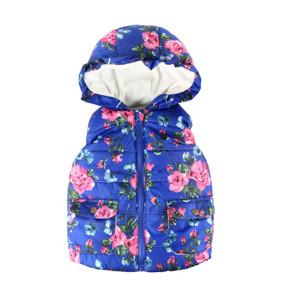 Жилет для девочки Розовый сад, синий (код товара: 51732): купить в Berni