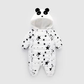 Комбинезон утепленный детский Звёздная панда, белый (код товара: 51889): купить в Berni