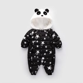 Комбинезон утепленный детский Звёздная панда, чёрный (код товара: 51891): купить в Berni
