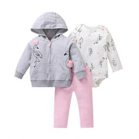 Комплект для девочки 3 в 1 Чудесные фламинго оптом (код товара: 51813): купить в Berni