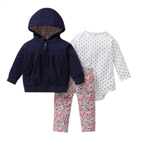 Комплект для девочки 3 в 1 Цветы и бантики оптом (код товара: 51814): купить в Berni